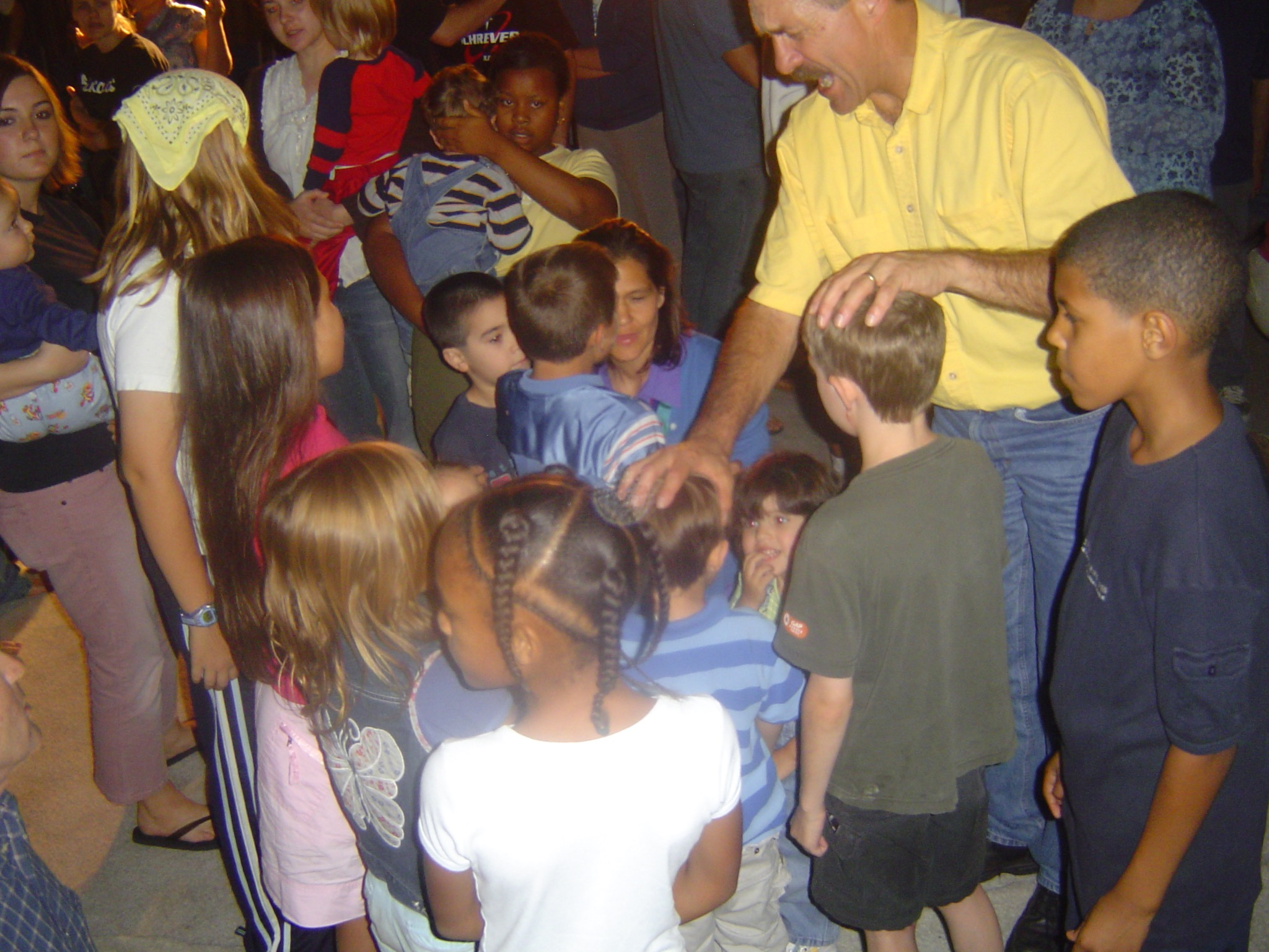 Lou Engle, leader, Cause USA prays for the children