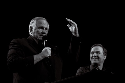 Loren Cunningham and Mike Bickle at our annual Onething Conference last year