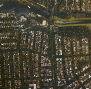 Homes of New Orleans submerged after Hurricane Katrina (NOAA)