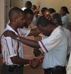One of the most incredible moments was seeing pastors from all denominations holding hands crying out for their nation.