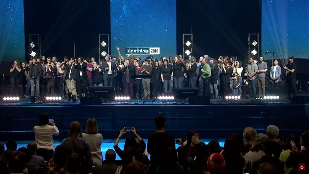 During the Onething Conference, Mike Bickle called on stage all who had served on the Nightwatch. Theresa and I felt honored to stand with our family after 12 years of loving Jesus in the Night with these faithful people! It was a mini-reunion on stage. Theresa and I are on the far left.